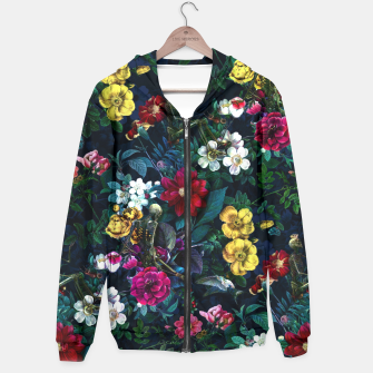 Thumbnail image of Flowers and Skeletons Hoodie, Live Heroes