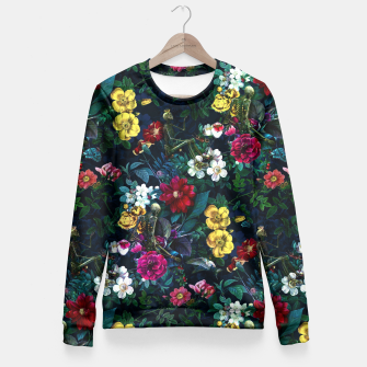 Thumbnail image of Flowers and Skeletons Fitted Waist Sweater, Live Heroes
