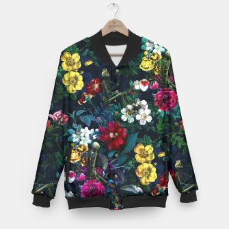 Thumbnail image of Flowers and Skeletons Baseball Jacket, Live Heroes