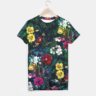 Thumbnail image of Flowers and Skeletons T-shirt, Live Heroes