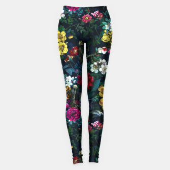 Thumbnail image of Flowers and Skeletons Leggings, Live Heroes