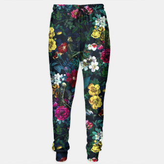 Thumbnail image of Flowers and Skeletons Sweatpants, Live Heroes
