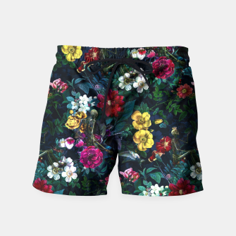 Thumbnail image of Flowers and Skeletons Swim Shorts, Live Heroes
