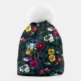 Thumbnail image of Flowers and Skeletons Beanie, Live Heroes