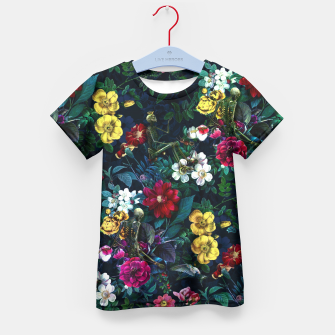 Thumbnail image of Flowers and Skeletons Kid's T-shirt, Live Heroes