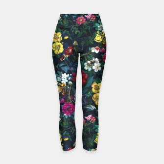 Thumbnail image of Flowers and Skeletons Yoga Pants, Live Heroes