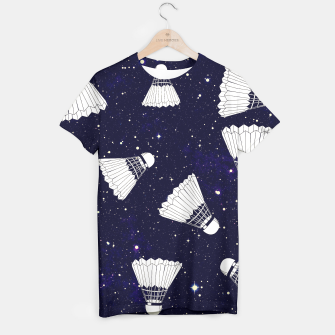 Thumbnail image of Space Shuttlecock T-shirt, Live Heroes