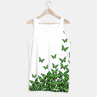 Thumbnail image of Green Butterfly Light Tank Top, Live Heroes