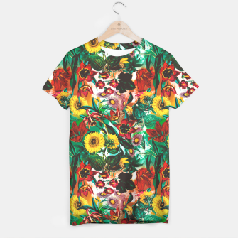 Thumbnail image of Multicolor Exotic Pattern T-shirt, Live Heroes