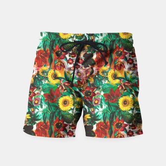 Thumbnail image of Multicolor Exotic Pattern Swim Shorts, Live Heroes