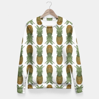 Thumbnail image of Pineapples Fitted Waist Sweater, Live Heroes