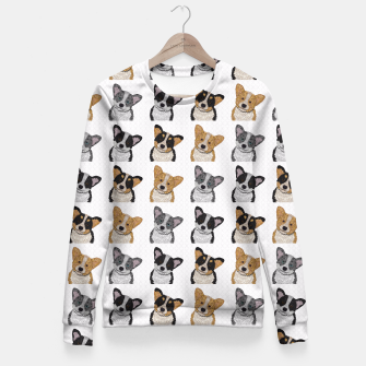 Thumbnail image of Welsh Corgies Fitted Waist Sweater, Live Heroes