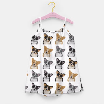 Thumbnail image of Welsh Corgies Girl's Dress, Live Heroes