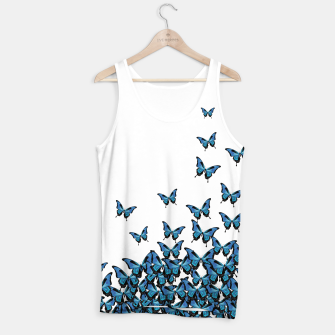 Thumbnail image of Blue Butterfly Light Tank Top, Live Heroes