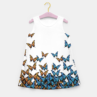 Imagen en miniatura de Two Tones Butterfly Girl's Summer Dress, Live Heroes