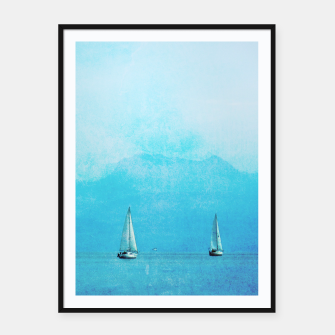 Thumbnail image of sailing blue Framed poster, Live Heroes