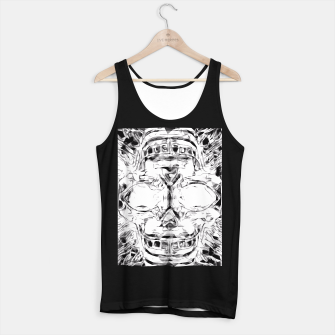 Imagen en miniatura de psychedelic skull art geometric triangle abstract pattern in black and white Tank Top regular, Live Heroes