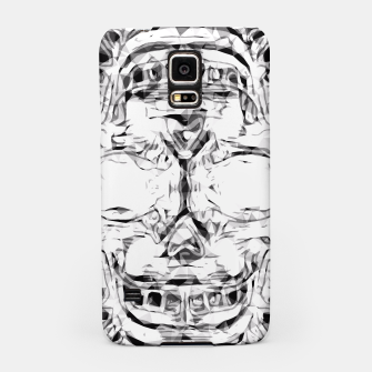 Imagen en miniatura de psychedelic skull art geometric triangle abstract pattern in black and white Samsung Case, Live Heroes
