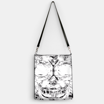 Imagen en miniatura de psychedelic skull art geometric triangle abstract pattern in black and white Handbag, Live Heroes