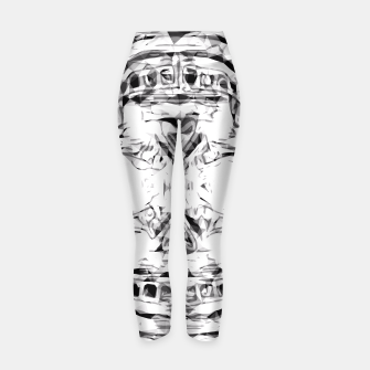 Imagen en miniatura de psychedelic skull art geometric triangle abstract pattern in black and white Yoga Pants, Live Heroes
