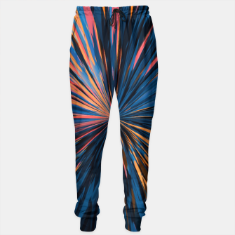 Thumbnail image of psychedelic splash painting abstract pattern in orange brown pink blue Sweatpants, Live Heroes