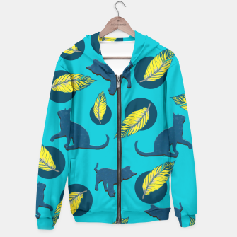 Thumbnail image of Cats and Feathers Hoodie, Live Heroes