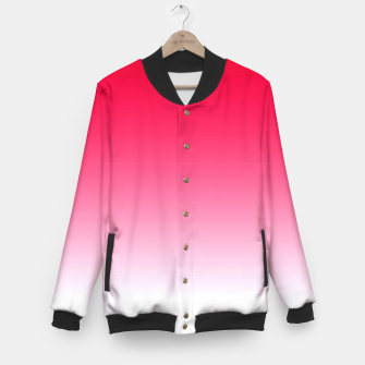 Thumbnail image of Red Light Ombre Baseball Jacket, Live Heroes