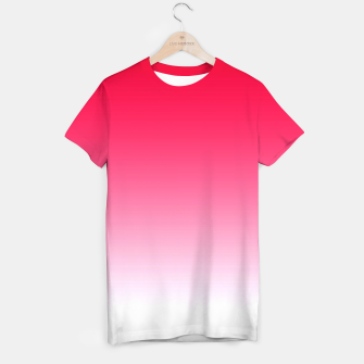 Miniatur Red Light Ombre T-shirt, Live Heroes