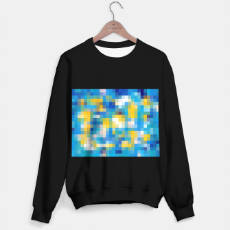 Imagen en miniatura de pixel geometric square pattern abstract in blue and yellow Sweater regular, Live Heroes