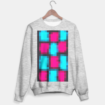 Imagen en miniatura de pixel geometric square pattern abstract in blue pink and black Sweater regular, Live Heroes