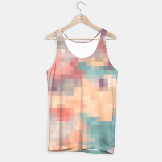 Thumbnail image of pixel geometric square pattern abstract in pink purple green Tank Top, Live Heroes