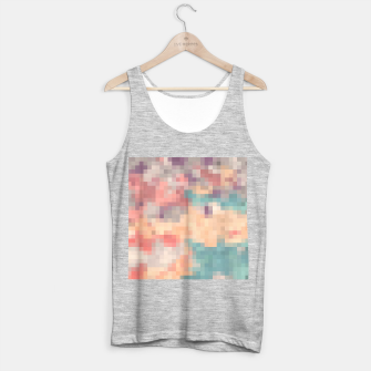 Imagen en miniatura de pixel geometric square pattern abstract in pink purple green Tank Top regular, Live Heroes