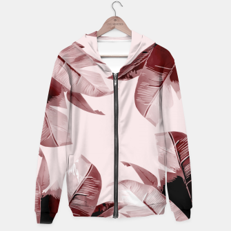 Thumbnail image of Blush Banana Leaves Hoodie, Live Heroes