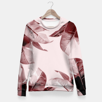 Thumbnail image of Blush Banana Leaves Fitted Waist Sweater, Live Heroes