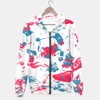 Thumbnail image of blue and pink splash Hoodie, Live Heroes