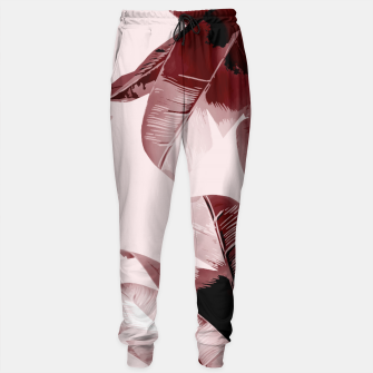 Thumbnail image of Blush Banana Leaves Sweatpants, Live Heroes