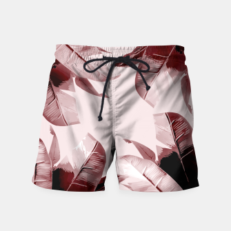 Thumbnail image of Blush Banana Leaves Swim Shorts, Live Heroes