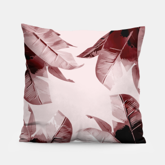 Thumbnail image of Blush Banana Leaves Pillow, Live Heroes