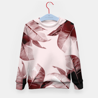 Thumbnail image of Blush Banana Leaves Kid's Sweater, Live Heroes