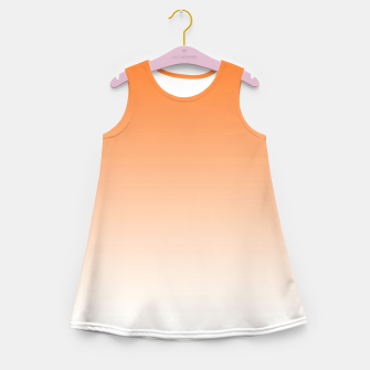 Imagen en miniatura de Orange Light Ombre Girl's Summer Dress, Live Heroes