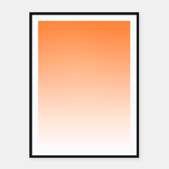 Imagen en miniatura de Orange Light Ombre Framed poster, Live Heroes