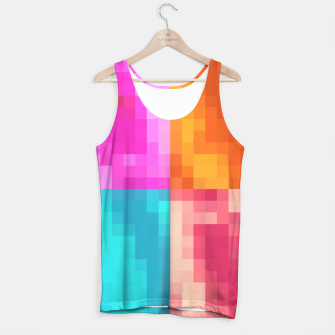 Thumbnail image of pixel geometric square pattern abstract in pink orange blue Tank Top, Live Heroes