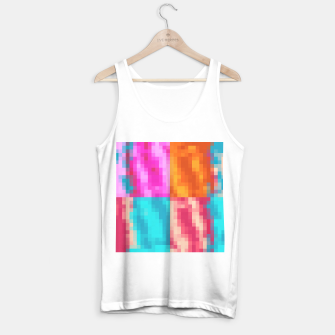Imagen en miniatura de pixel geometric square pattern abstract in pink orange blue Tank Top regular, Live Heroes