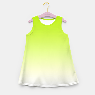 Imagen en miniatura de Lime Green Light Ombre Girl's Summer Dress, Live Heroes