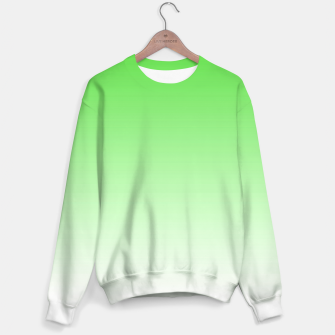 Thumbnail image of Leaf Green Light Ombre Sweater, Live Heroes