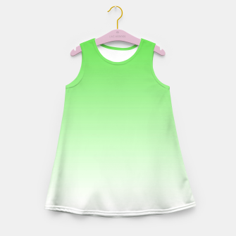 Imagen en miniatura de Leaf Green Light Ombre Girl's Summer Dress, Live Heroes