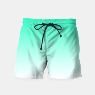 Thumbnail image of Turquoise Light Ombre Swim Shorts, Live Heroes