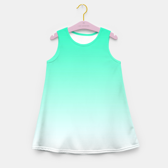 Imagen en miniatura de Turquoise Light Ombre Girl's Summer Dress, Live Heroes