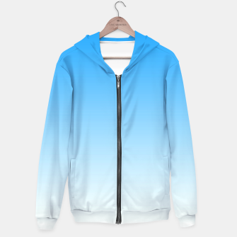 Thumbnail image of Cerulean Blue Light Ombre Hoodie, Live Heroes