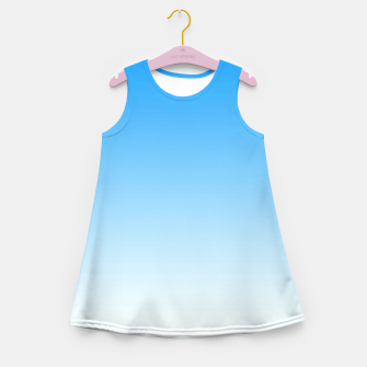 Imagen en miniatura de Cerulean Blue Light Ombre Girl's Summer Dress, Live Heroes